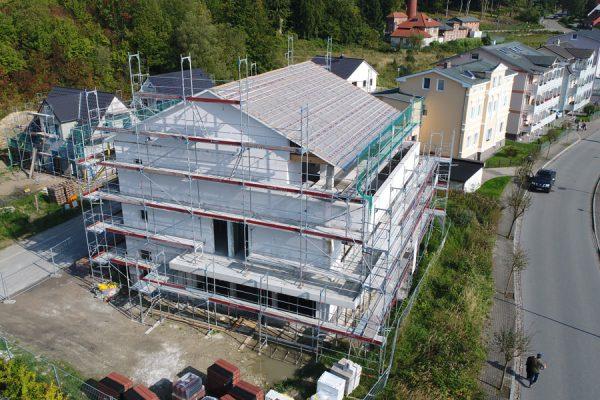 Haus mit Fassadengerüst von Insel-Gerüstbau in Sassnitz auf Rügen