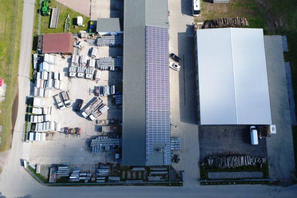 Luftaufnahme von Insel Gerüstbau Rügen im Ostseebad Binz Ortsteil Prora – Gerüstbauer-Meisterbetrieb auf Deutschlands größter Insel