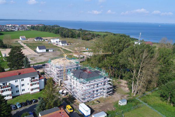 Gerüstbau auf der Insel Rügen an der Ostsee